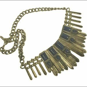 Vintage chunky statement necklace
